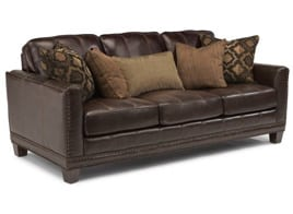 Flexsteel Sofa brown leather