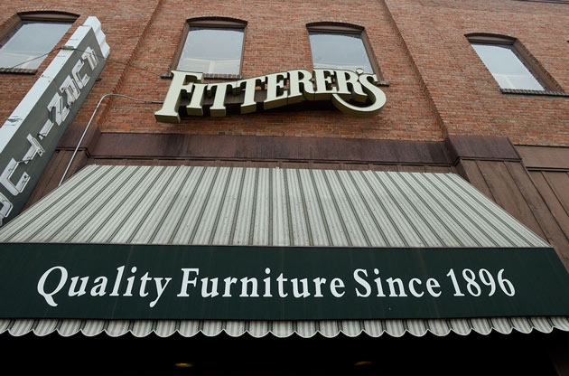 Fitterer's north facing store front.