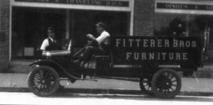 Fitterer's delivery truck from early 1900s.
