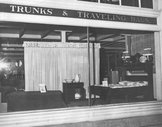 Fitterer's front window during the 1950s.